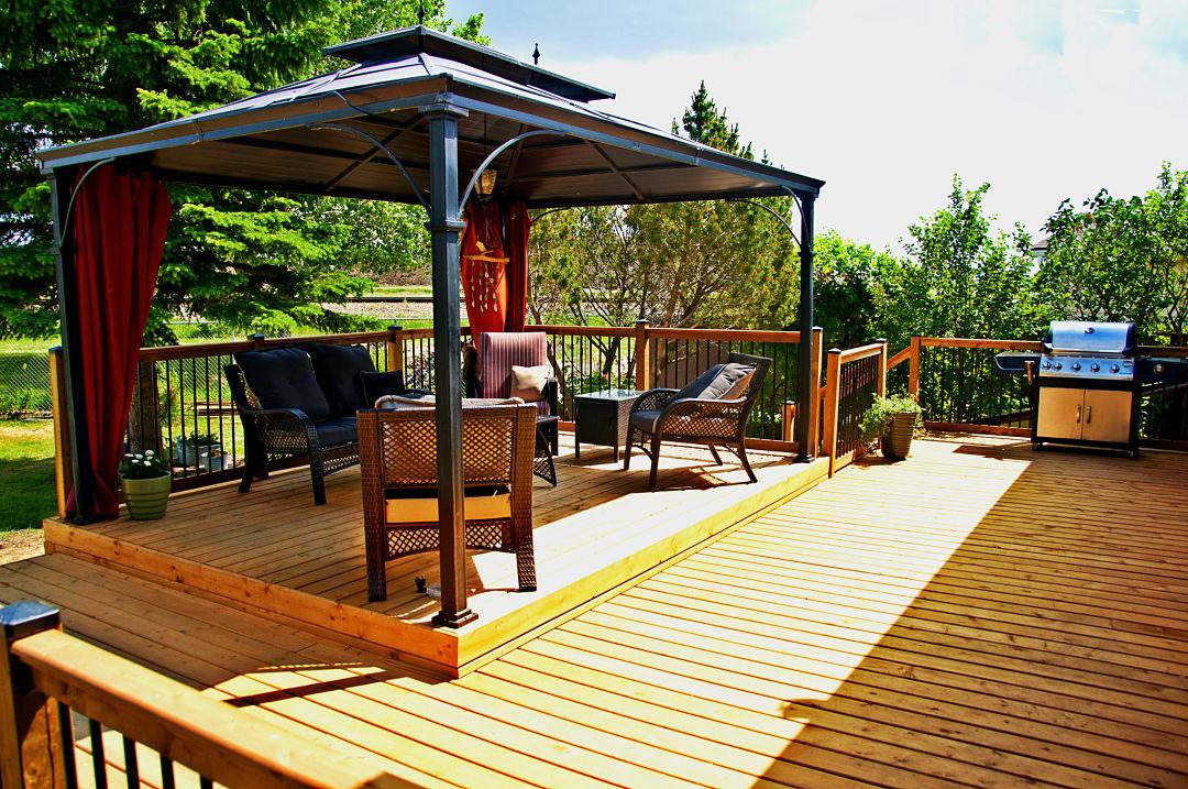 Halcyon Homes Custom Deck Brown Pressure Treated
