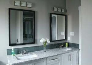 Custom Ensuite Vanity - double sinks