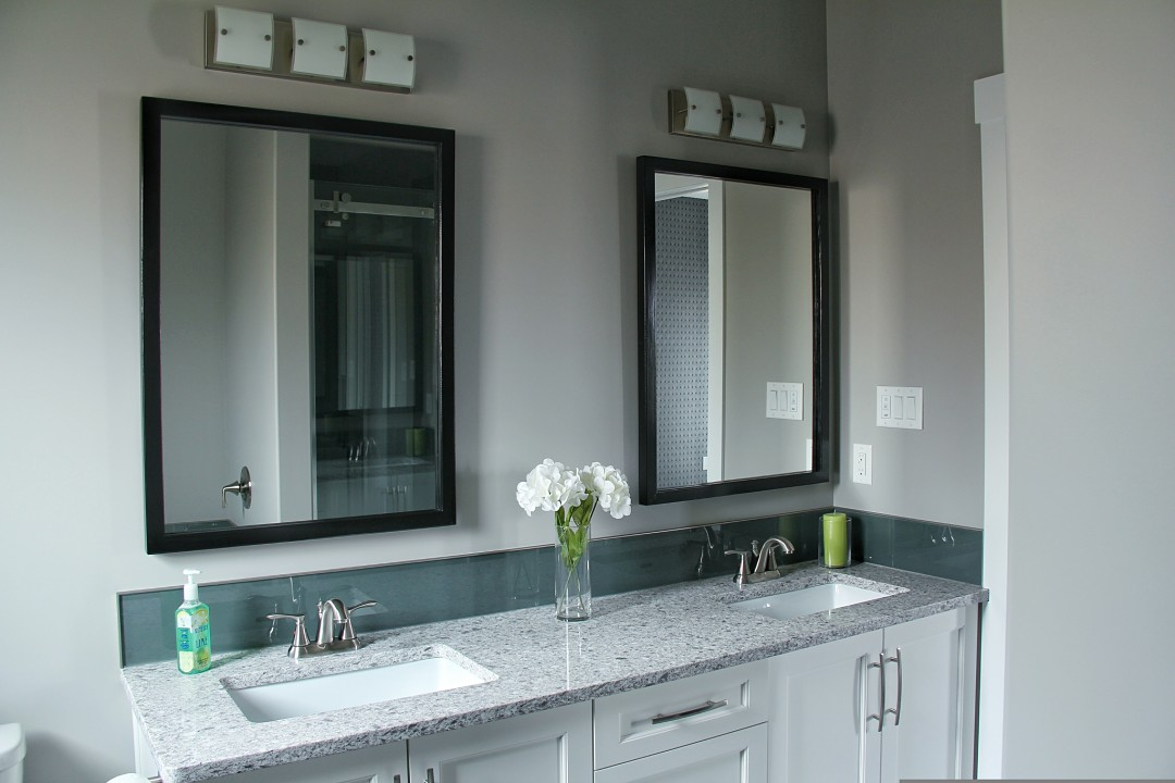 Custom Ensuite Vanity - double sinks