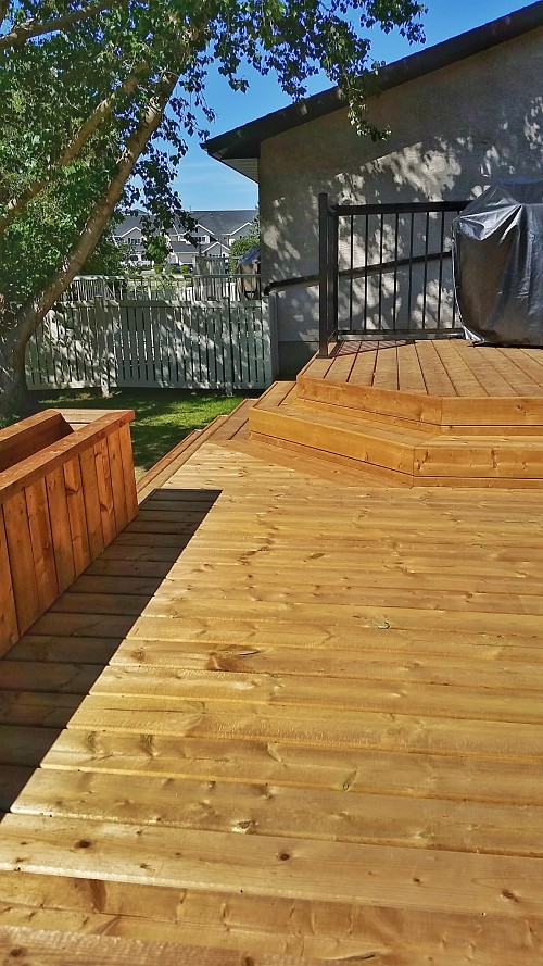 Halcyon Homes - Custom Deck - Brown Pressure Treated 10