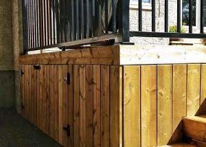 Halcyon Homes Custom Deck - Brown Pressure Treated 2