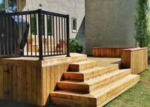 Halcyon Homes - Custom Deck - Brown Pressure Treated 3