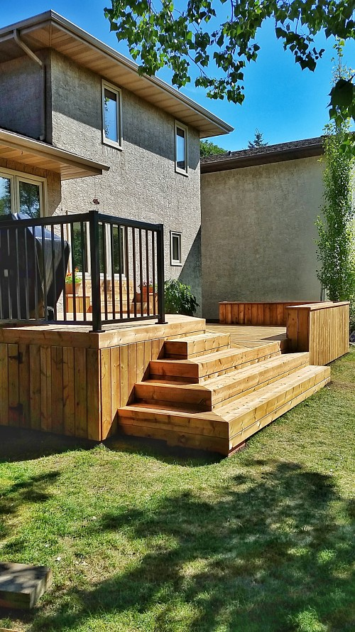 Halcyon Homes - Custom Deck - Brown Pressure Treated 3