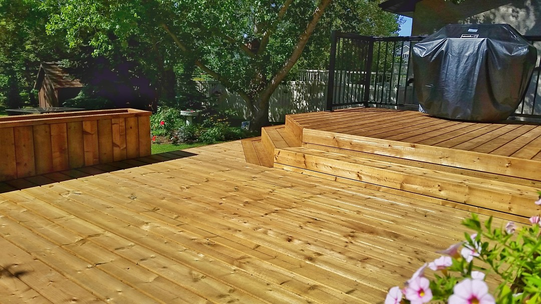 Custom Brown Pressure Treated Deck