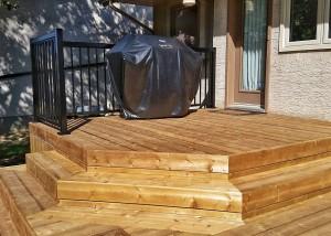Custom Deck Build - Brown Pressure Treated