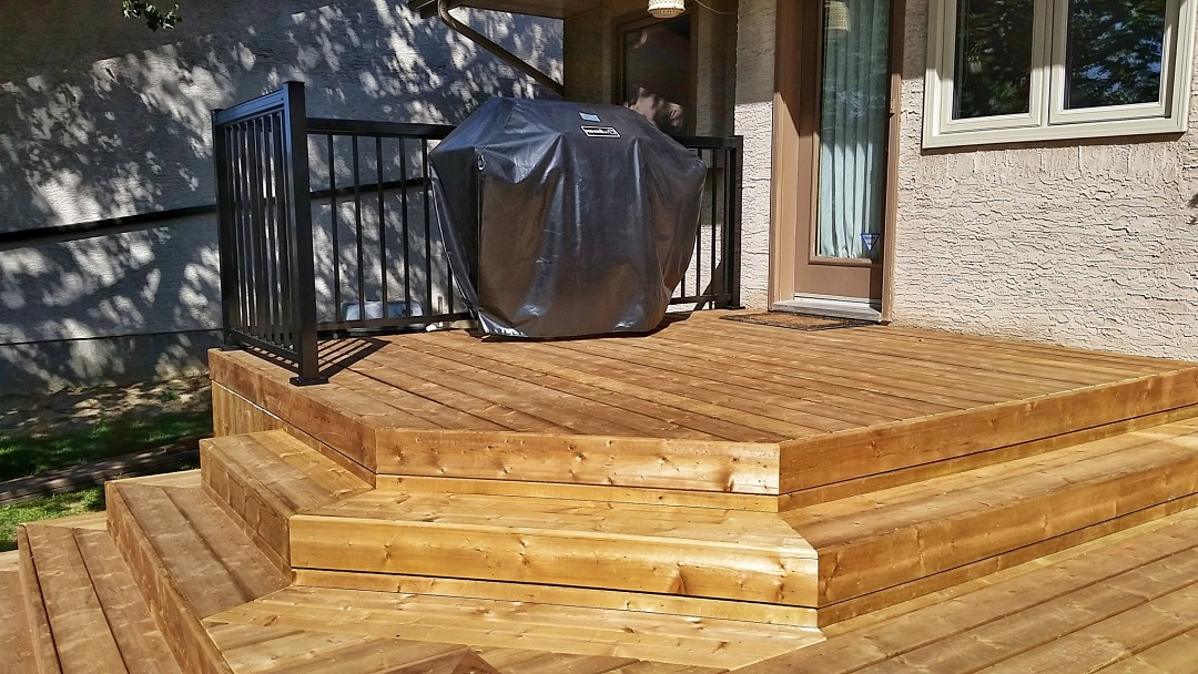 Custom Deck Build - Brown Pressure Treated