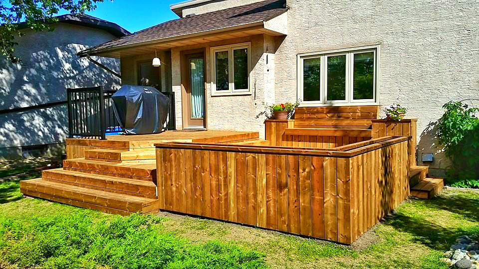 Halcyon Homes - Custom Deck - Brown Pressure Treated